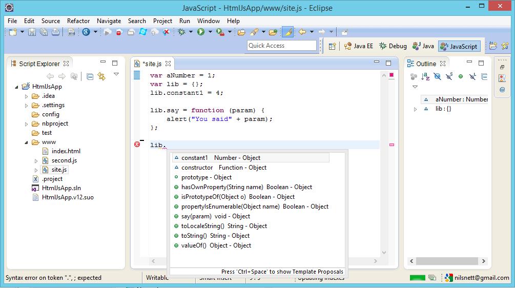 A Comparison of JavaScript IDE's anno 2014